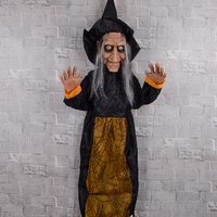 Scary Voice Contral Halloween Hanging Animated Witch Creepy Horrible Halloween Party Prop Supplies 2019 Hot Sell 3