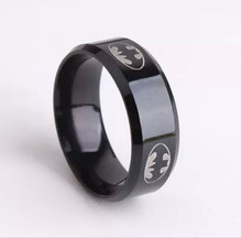 Black Batman Rings Titanium Stainless Steel Rings For Men Women