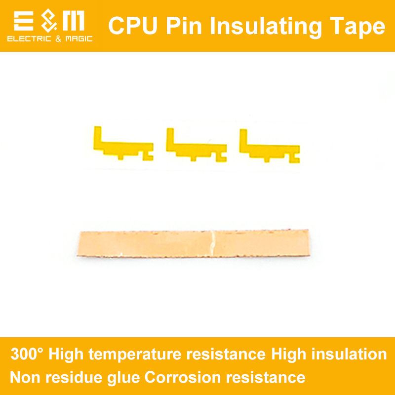 8gen CPU Pin Insulating Tape <font><b>Sticker</b></font> I5 for LGA1151 I5-8400 8500 8600K <font><b>I7</b></font>-8700 8700K 300 Degrees Temperature Resistance image