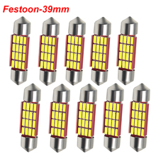 C5W C10W Festoon 39mm LED Bulbs CANBUS 4014 SMD White For Car Auto Interior Dome Map Reading Lamp License Plate Lights DC 12V цена