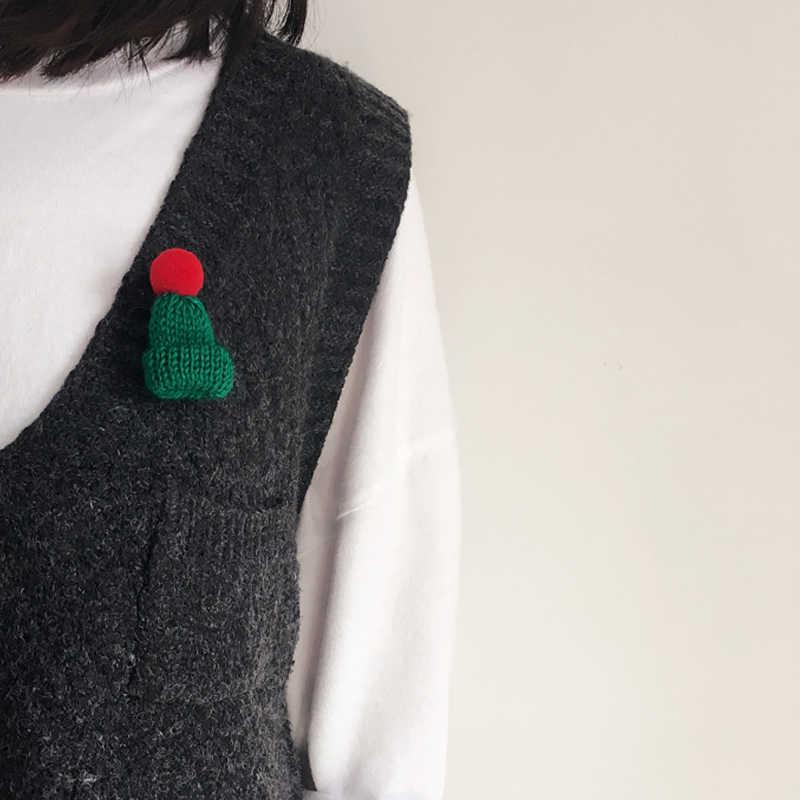 Gorąca wiosna nowy wełniany kapelusz sweter broszki koreański mały uroczy piłki broszka przypinki dla dziewczyn kobiet Kawaii gorąca sprzedaż biżuterii w japonii