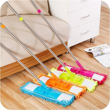 Household Cleaning Tools chenille Stream Floor Mop Wiper Duster Cleaning Cloth Drying Flat Mop Head Floor Sweeper(China)