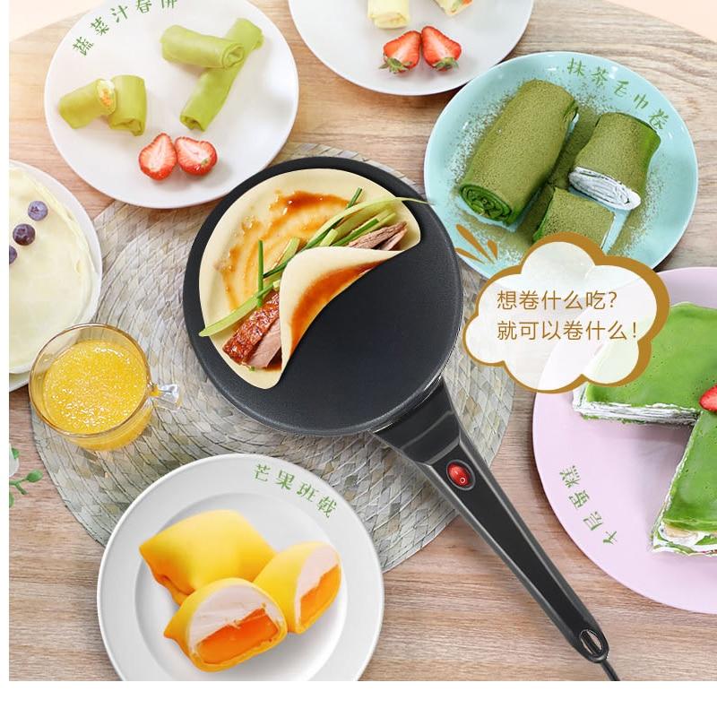 220v 800W DIY Electric Baking Pan Home Spring Roll Cake Machine Layer Of Skin Automatic Mini Pancake Pot Cake