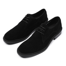 QYFCIOUFU Fashion Oxfords Men Cow Leather Suede Dress Shoes Genuine High Quality Soft Casual Breathable Classic Shoes Handmade