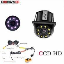 Koorinwoo 2019 Auto 8 Visione Notturna A Raggi Infrarossi LED del CCD Auto Vista Posteriore e Anteriore Della Macchina Fotografica il Video di Assistenza Al Parcheggio Auto cam System