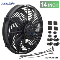 PIVOT Epman Racing Car Universal 12V 14 Electric Fan Curved S Blades Radiator Cooling Fan EP
