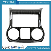 Car Interior Accessories For Jeep Wrangler 2011+ Center Control Panel Cover Trim ABS Frame Decoration Carbon fiber Car Styling