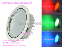 Good Quality Perfect Color Mixture High Power 36W Ceiling LED RGB Spotlight DS CSL 61 36W