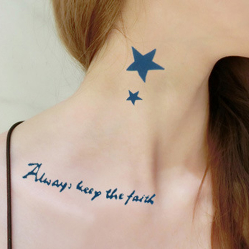 Inspirasi Tato Tato Bintang Di Leher Keren