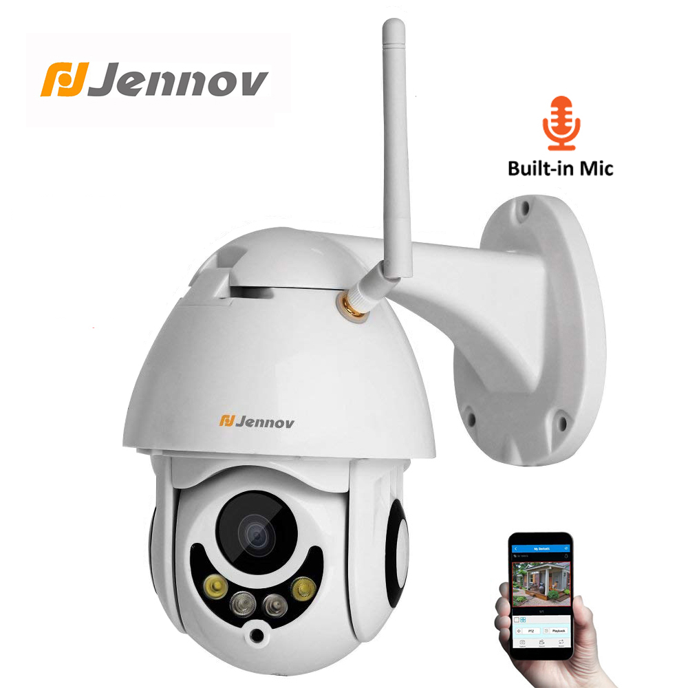 Jennov PTZ IP Camera 1080P 2MP HD Wifi Outdoor Security Camera Wi Fi With Night Vision