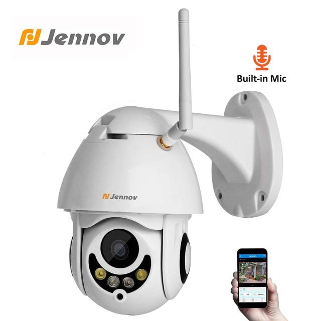 Jennov PTZ IP מצלמה 1080P 2MP HD Wifi חיצוני אבטחת מצלמה Wi Fi עם ראיית לילה אלחוטי טלוויזיה במעגל סגור עבור בית וידאו מעקב