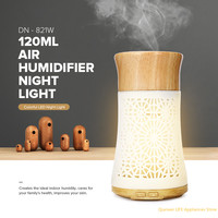 FIMEI Air Humidifier Aroma Oils Diffuser 120ml Wood Essential Ultrasonic Humidifiers Aromatherapy Umidificador Night Light 12W