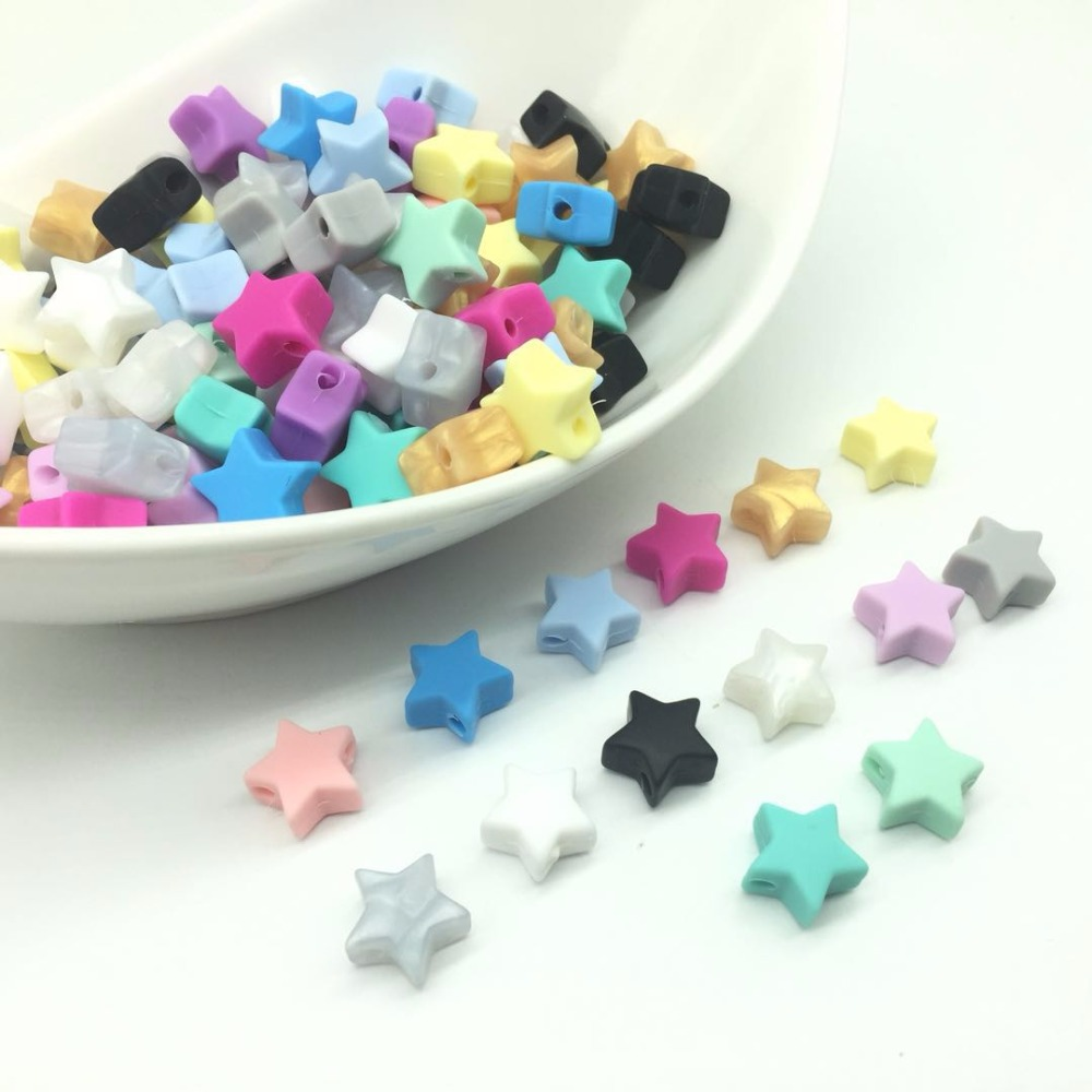 Beads & Jewelry Making Jewelry & Accessories 10pcs 14mm Silicone Bead Mini Star Shape Food Grade Loose Beads Bpa Free For Diy Teething Necklace Bracelet Jewelry Baby Pendant
