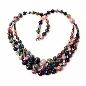 Image 2 - 1 pc Şans Jewel Şeker renk Doğal Agates Boncuk Vintage Kolye Uzun Hattı Katmanlama Kazak Ceket Takı Moda Dainty Mücevher hediye