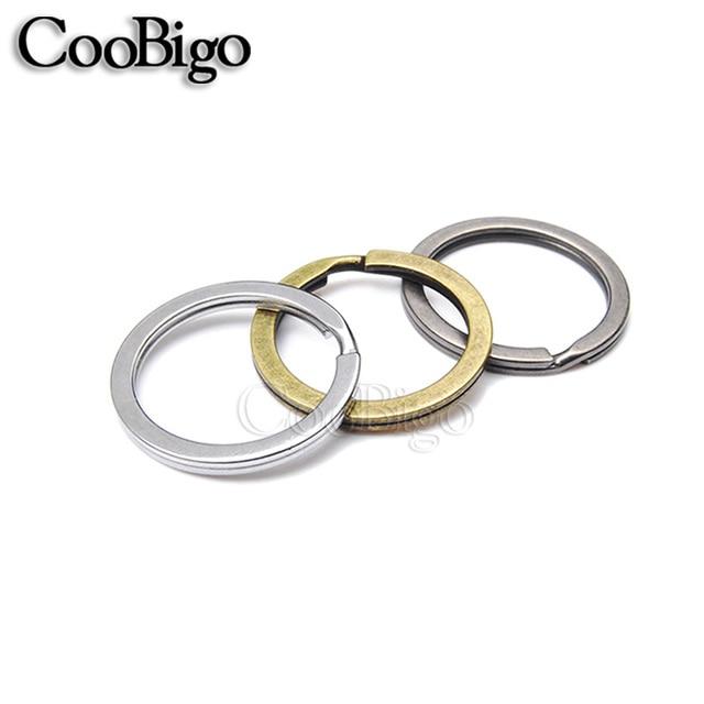 5pcs 25mm Outer Diameter Flat Key Rings Key Chain Split O Rings 3 ...