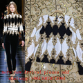 2017 New Embroidery Beaded Long Sleeves Outfit Sexy Celebrity Runway Winter Handmade Embroidery Outfit Baroque Vintage Top Shirt
