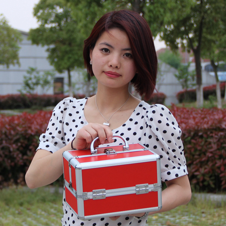 Image 5 - ポータブルプロの化粧品袋旅行のための化粧品の大容量女性ブラシ化粧箱大容量旅行バッグ    グループ上の スーツケース