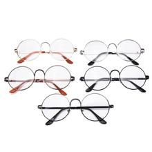 Fashion Vintage 5 Colors Women Eye Glasses frames Plain Mirror Literary Harajuku big Metal oval frame glasses Feminino Masculino