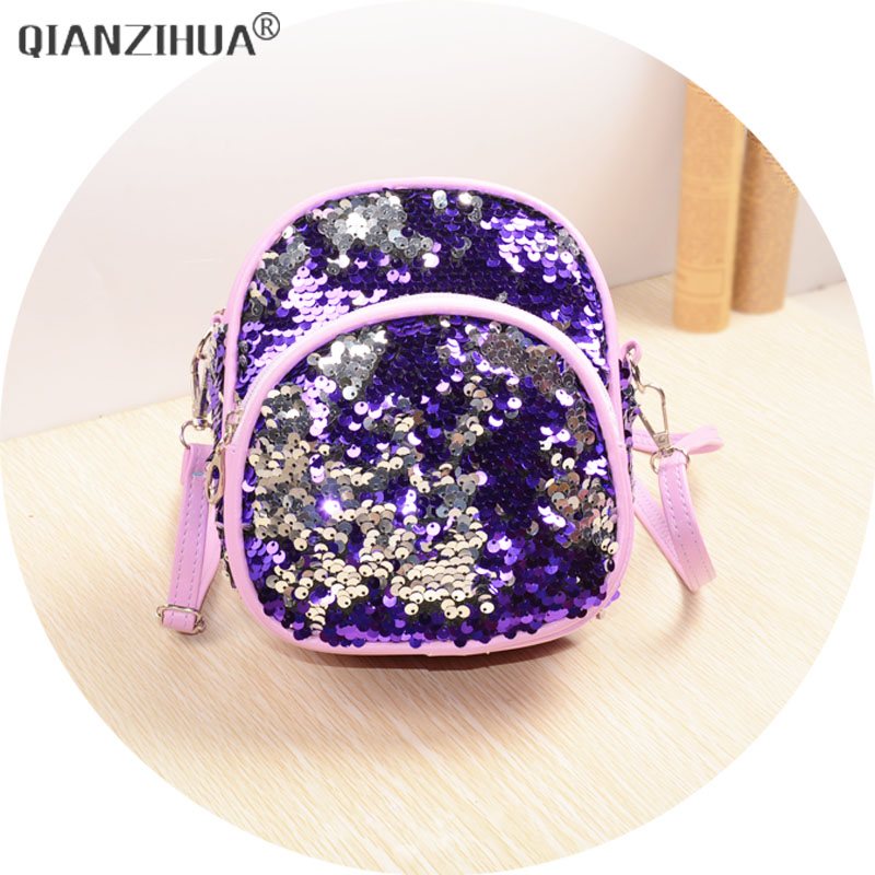 Women Mini Bag 2018 New PU Sequins backpack for Kid Girls Travel backpacks Children back pack baobao bags 2017 new women girl children all match bag pu leather sequins backpack girls small travel princess bling backpacks