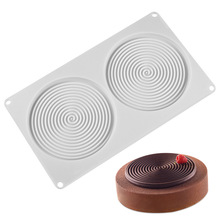 2 Cavities Water Ripple Silicone Cake Mold For Baking Mousse Chololate  Molds Decorating Tools