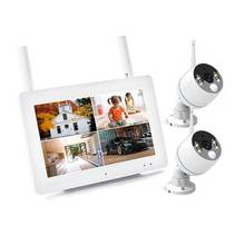 Smart Home Security IP Camera 4 CHNVR Kit 1080P Wireless Indoor CCTV With Two Way Audio Plug & Play Installation