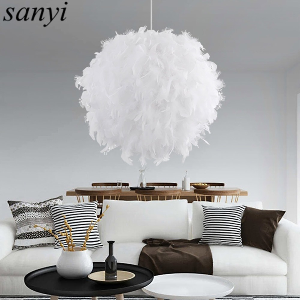 Modern Romantic Luxury White/Pink Color Feather Pendant Light Lamp Marriage Room Clothing Store Bedroom Dining Room Pendant Lamp клавиатура topon top 100450 для lenovo ibm thinkpad sl300 sl400 sl500 black
