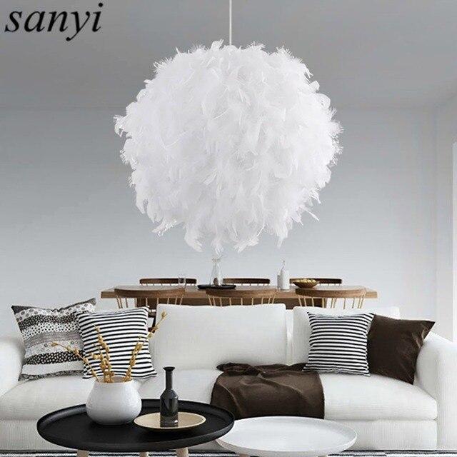 Schon Moderne Romantische Luxus Weiß/Rosa Farbe Feder Pendelleuchte Lampe Ehe  Zimmer Bekleidungsgeschäft Schlafzimmer Esszimmer Pendelleuchte