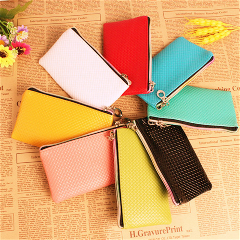 New Hot Sale Fashion Candy Color Lady PU Leather Long Coin Purse Handbag Bag Clutch Women's Coin Wallet  for Phone Card Case saf lady s pu leather wallet clutch long handbag phone case red