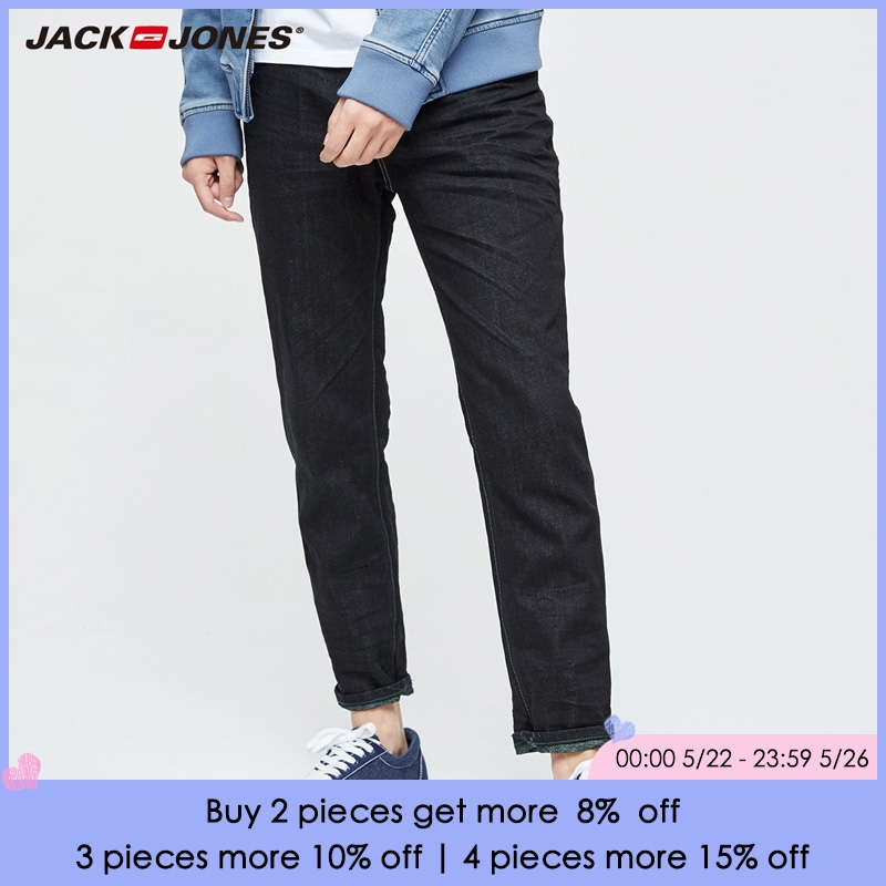 JACK&JONES Brand NEW Minimalist style Denim mid waist full length male washing cowboy casual   jeans   |217132547