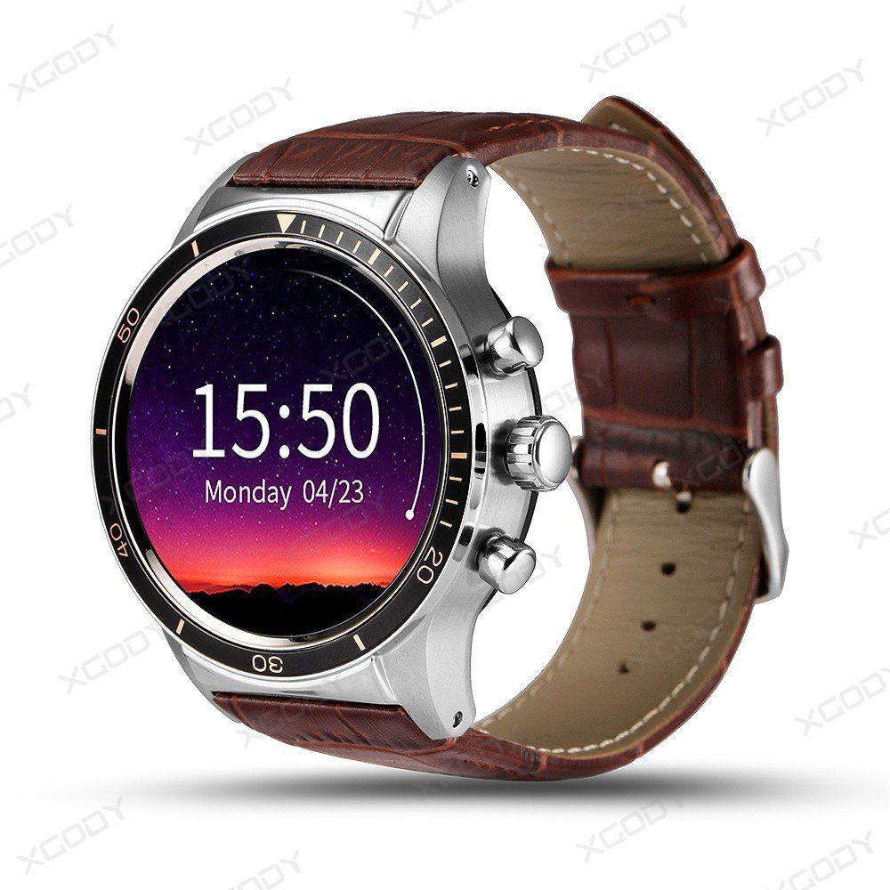 XGODY Y3 font b Smartwatch b font Android 5 1 Quad Core 3G GSM Watch 4GB