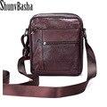 Hot Seller Business Men Genuine Leather Bag Natural Cowskin Men Messenger Bags Vintage Men's Cowhide Shoulder Crossbody Bag
