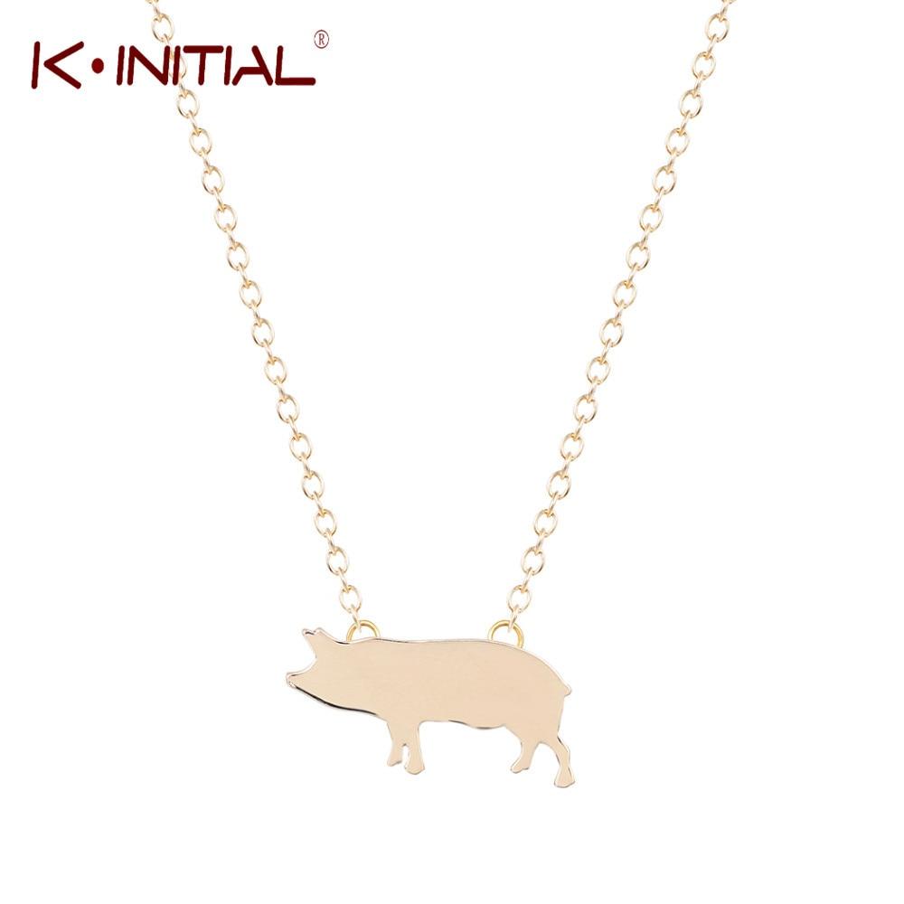 05ae3e3369197b Kinitial 10 Sztuk Moda Unikalne Śliczne Pig Naszyjnik Wisiorek Moda  Naszyjniki i Wisiorki Zwierząt Biżuteria Prezent dla dzieci