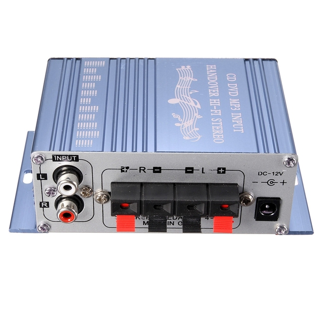 RCA 2CH Hi-Fi Stereo Amplifier Booster MP3 Speaker For Car DVD Mini Moto 1