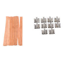 Set of 10 Candle Wood Wicks with Sustainer Tabs