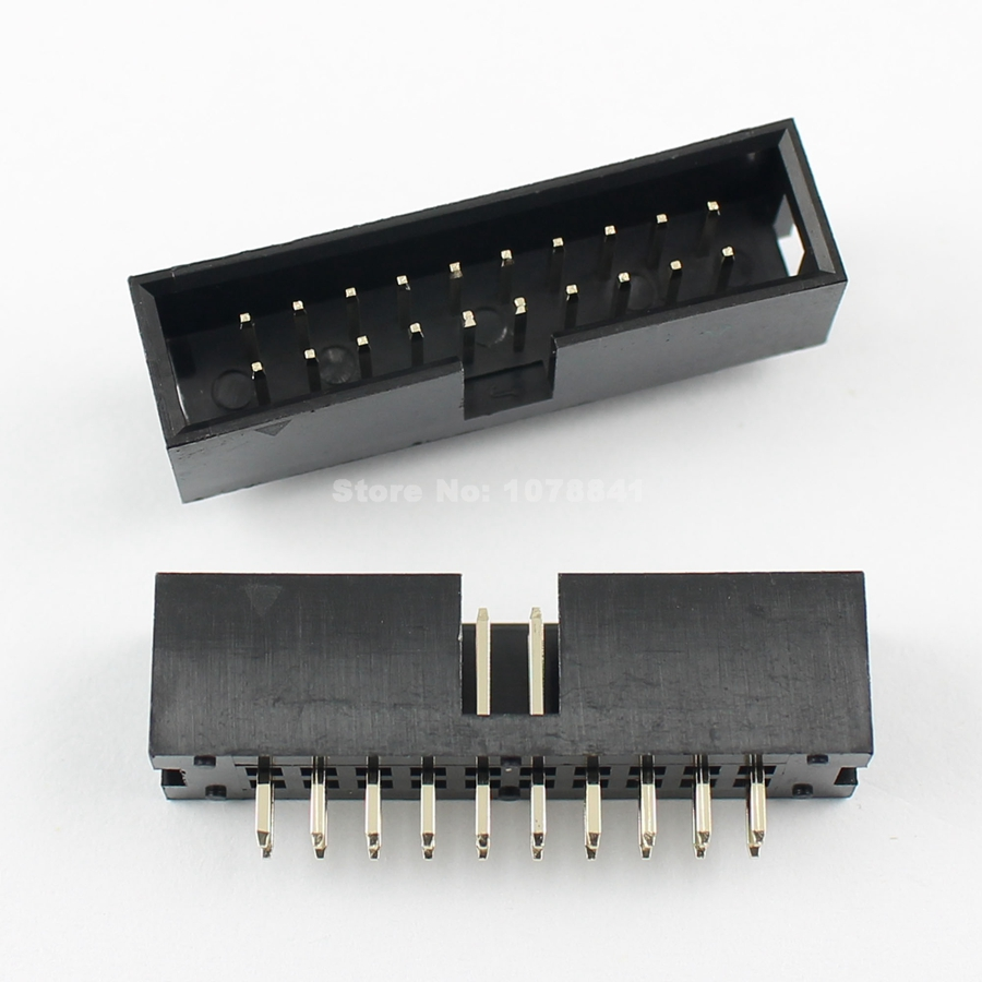 100Pcs 2mm 2x20 Pin 40 Pin Right Angle Male Shrouded Box Header IDC Connector