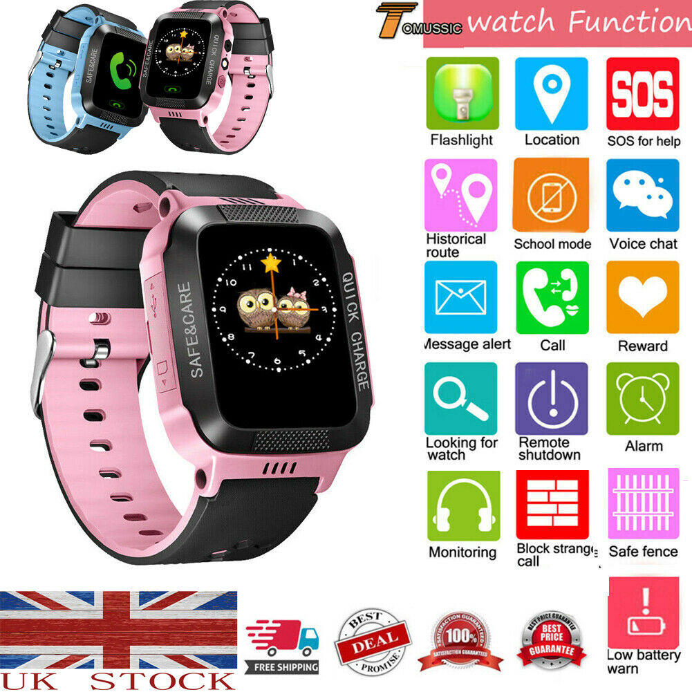 2019 Hot Child Smart Watch Anti-lost Kids Safe GPS Tracker SOS Call GSM Fit For Android IOS Kids Safe Smart Watch Dropshipping