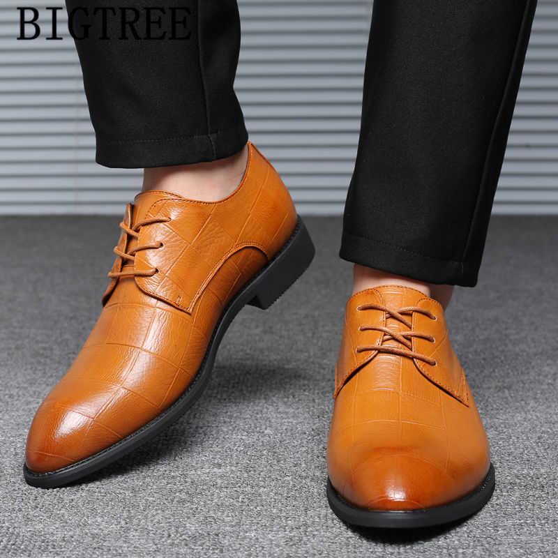 Oxford ayakkabı erkekler için deri ayakkabı erkekler klasik düğün elbisesi lüks elbise kuaför resmi ayakkabı erkekler zarif sapato masculino