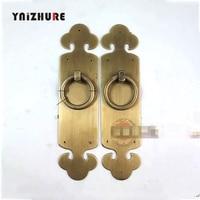 2pcs 190mm ChineseBronze AntiqueCopper DoorHandle LocksStraight Tonghuan