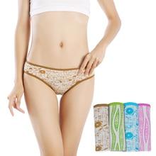 DEWVKV 2019 New Panties For Women Ice Thong Silk Seamless Low-Rise Sexy Lingerie Briefs Comfortable Underwear 4pcs JK