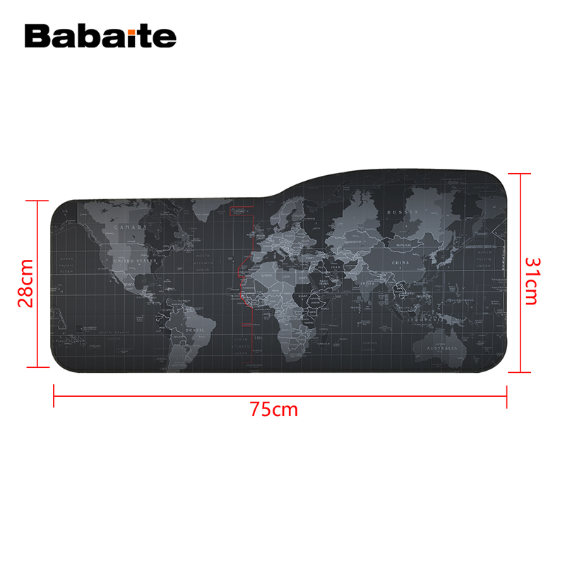 Babaite Large mouse pad 75*31cm speed Keyboard Mat mousepad Gaming mouse pad Desk Mat for game player Desktop PC Computer Laptop