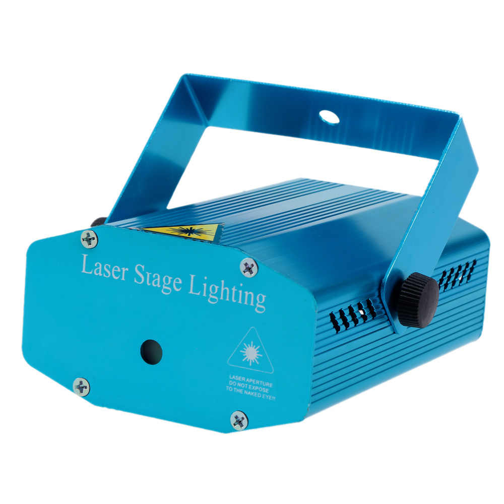 Новый синий мини-проектор Красный и зеленый DJ сцена с прожекторами для дискотеки эффект света Рождественский лазер для вечеринок освещение шоу для дома развлекать