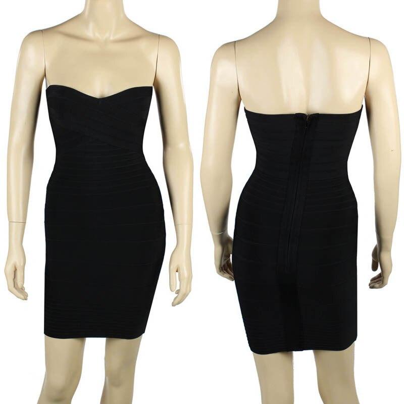 Ким Кардашьян, без бретелек, с открытыми плечами,, сексуальное женское платье, вискоза, бодикон, опт, дешевые мини обнаженные платья - Цвет: Черный
