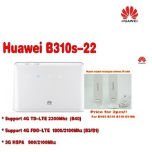 Original Unlocked HUAWEI B310S-22 150M 4G LTE CPE WIFI ROUTER modem with sim card slot  plus antenna
