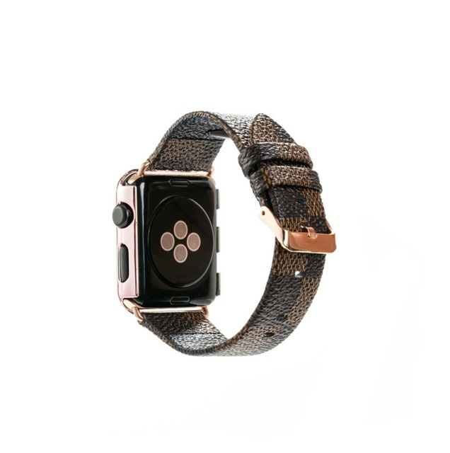 ac84316cc7b Apple Watch Band 42mm 38mm Fashion Leather iWatch Sport Series 3 Series 2 1  Strap for Women Men Color Rose Gold Metal buckle