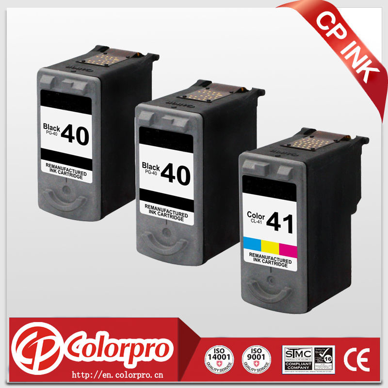 2*BK+1*Color PG40 CL41 for Canon Remanufactured ink cartrdge for Canon PIXMA iP1600; iP1700; iP1800; iP2600; MP140; MP150; MP160 3x remanufactured ink cartridge pg40 cl41 pg 40 cl 41 for canon pixma ip1700 ip1800 ip1900 mp470 mp450 inkjet printer