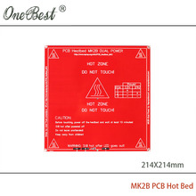 3D Printer Accessories PCB Hot Bed Mk2b 12/24 Dual Power 214x214mm Mk2 Compatibility Best PCB Heat Bed Free shipping