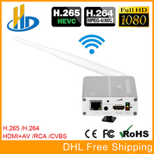 Урай HEVC H.265 H264 Беспроводной HDMI + CVBS AV декодер потокового вещания кодирующее устройство телевидения по протоколу Интернета HD + SD видео Live Encoder Wi-Fi с PAL NTSC
