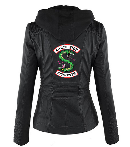 BF Riverdale Southside Riverdale Serpents black Brown PU Leather Jacket Women Riverdale Serpents Streetwear Leather Brand Coat in Jackets from Women 39 s Clothing
