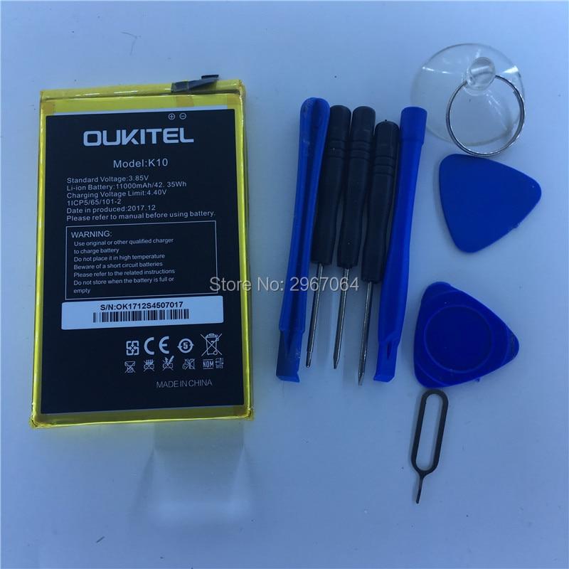 Mobile phone battery OUKITEL K10 battery 11000mAh Original battery Give disassemble tool OUKITEL phone battery