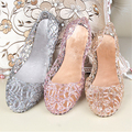 Women's Summer Fashion Hollow Nest Mesh Sandals Breathable Beach Jelly Flats